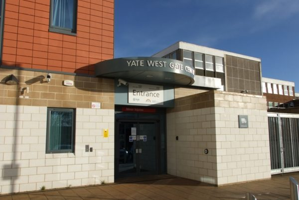 Photo of front entrance of the Yate minor injury unit building