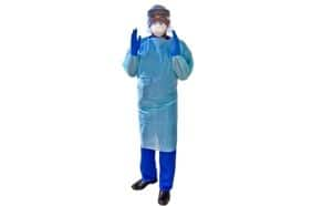 man dressed in ppe